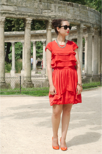 red SANDRO dress