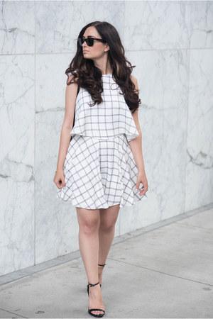 white NBD skirt