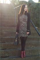 dark brown Style Revel dress