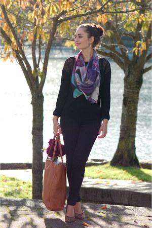 deep purple J Van Such scarf