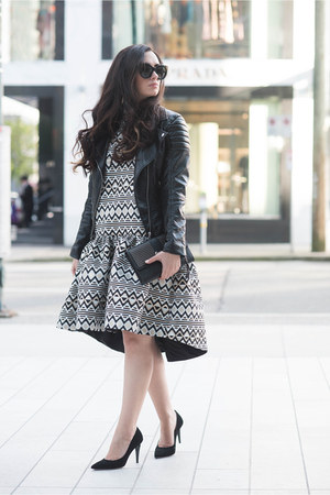 black From Paris To by Floriane Fosso dress