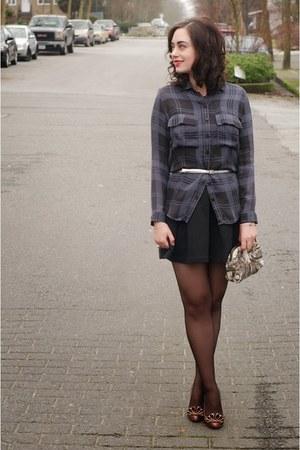 navy Rachel Mara blouse