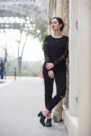 black Sezane blouse
