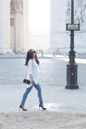 white Marled blouse