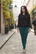 black Style Sofia blouse