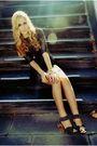 Black-topshop-dress-black-zara-shoes-gold-vintage-camden-market-necklace