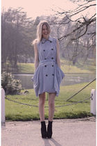 blue storets dress - black Topshop shoes