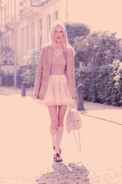 American Apparel skirt - Lucette shoes - Lucette blazer - Rebecca Minkoff bag