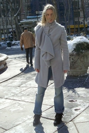 coat - jeans - Zara shoes