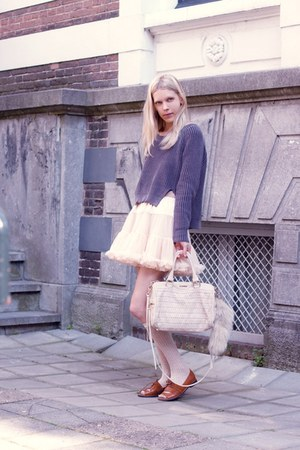 American Apparel skirt - Lucette shoes - H&M sweater - Rebecca Minkoff bag