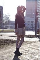 Queens Wardrobe dress - Queens Wardrobe tights - American Archive boots