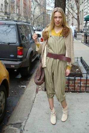 vintage jacket - Isabel Marant sweater - vintage belt - vintage pants - vintage