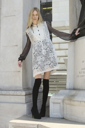 Urban Outfitters dress - 31 phillip lim blouse - H&M socks - Zara shoes