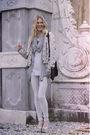Silver-vintage-blouse-gray-h-m-cardigan-blue-h-m-top-blue-h-m-leggings-s