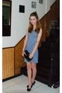 Athena-dress-faux-fur-bag-the-gallery-heels