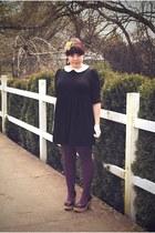 asos dress - We Love Colors tights - c-o Blowfish sandals - vintage gloves