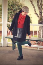 orange Tulle sweater - green We Love Colors tights - heather gray Old Navy skirt