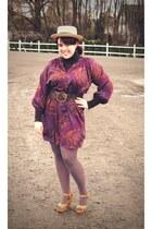 purple Tucker for Target dress - tan Forever 21 hat - light brown mocha We Love