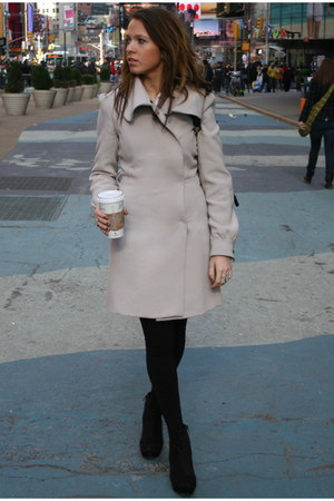 beige H&M coat - black Jeffrey Campbell wedges