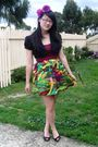 Black-jay-jays-top-green-skirt-black-alchemy-shoes-purple-diva-accessories