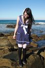 Blue-chicstar-dress-white-thrifted-tights-black-dangerfield-socks-black-ta