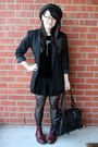 Black-savers-blazer-black-thrifted-top-black-living-doll-shorts-red-doc-ma