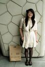 Beige-sportsgirl-dress-black-thrifted-from-savers-blazer-black-ebay-tights-