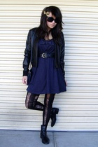 black thrifted bardot jacket - black thrifted Country Road boots