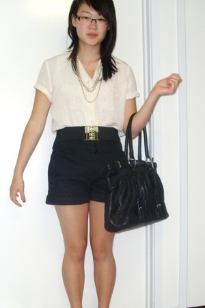 blouse - Living Doll shorts - belt - - accessories