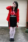 Red-ids-jacket-red-topshop-t-shirt-black-living-doll-skirt-white-stockings