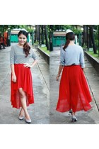 red mullet romwe skirt