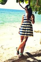 blue stipes WAGW dress