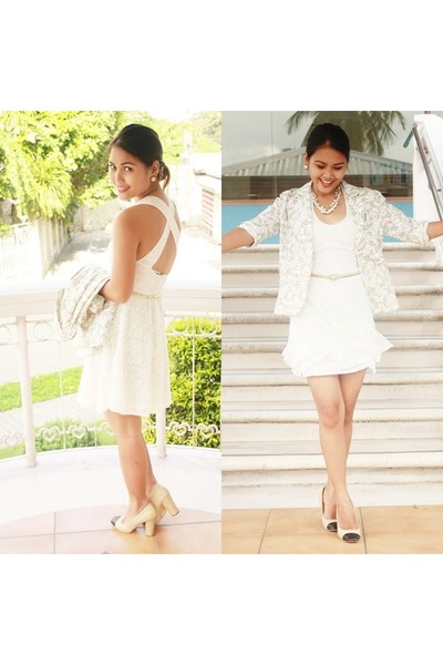 ivory knitted SM GTW dress