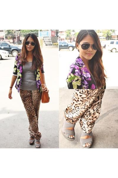 tawny leopard GTW pants