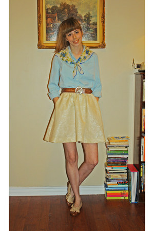 H&M skirt - horse vintage belt
