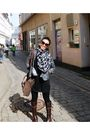Gray-vintage-blazer-black-soule-phenomenon-dress-brown-soule-phenomenon-boot