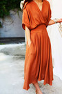 Burnt-orange-surplice-fashionmia-dress-burnt-orange-plain-fashionmia-dress