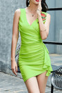 Surplice-plain-fashionmia-dress-bodycon-fashionmia-dress