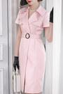 Light-pink-fold-over-fashionmia-dress-light-pink-collar-fashionmia-dress