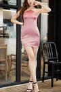 Halter-plain-fashionmia-dress-bodycon-fashionmia-dress-pink-fashionmia-dress