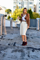 brown suede Style by Marina jacket - crimson ankle Michael Kors boots