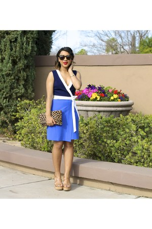 wrap dvf dress - Loren Hope bracelet