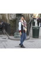 plaid fringe Sheinside scarf