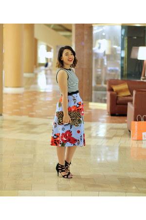 floral Classiques Entier skirt - striped crop Topshop top
