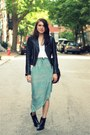 Black-vintage-boots-black-true-religion-jacket-sky-blue-threadsence-skirt