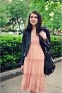 Black-vintage-boots-pink-blue-bird-dress-black-true-religion-jacket-black-