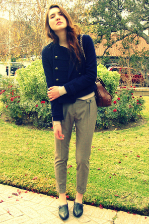 beige Zara pants - black Urban Outfitters shoes