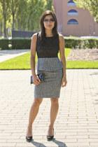 ann taylor top - ann taylor skirt - Cole Haan heels