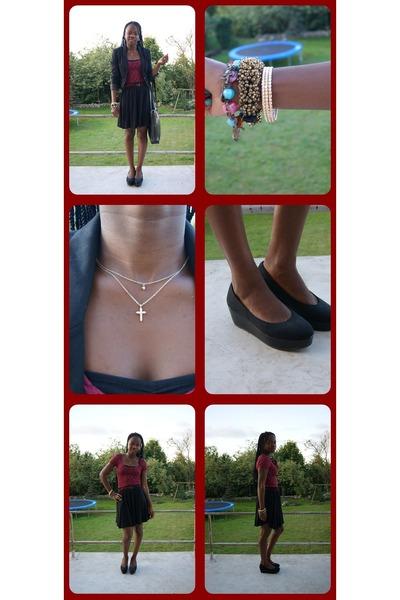 H&M shoes - H&M blazer - H&M skirt