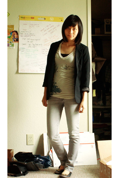 silence and noise blazer - Urban Outfitters t-shirt - PacSun jeans - sugar shoes